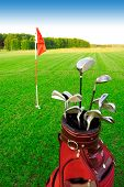 picture of golf bag  - Golf game - JPG
