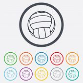 pic of volleyball  - Volleyball sign icon - JPG