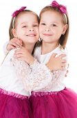 picture of identical twin girls  - Portrait of twin girls - JPG