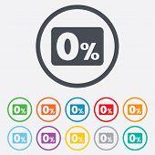 stock photo of zero  - Zero percent sign icon - JPG