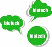 stock photo of biotech  - biotech word on modern banner design template - JPG