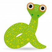 pic of anaconda  - Cartoon illustration of a snake on a white background - JPG