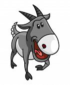 foto of capricorn  - cute capricorn zodiac cartoon  illustration Editable  - JPG
