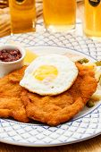foto of wieners  - Wiener Schnitzel with egg - JPG