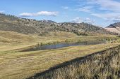 picture of collins  - mountain valley and lake  - JPG