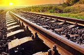stock photo of crimea  - railroad in Crimea - JPG
