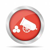 picture of cannon-ball  - retro cannon Flat vector illustrator Eps 10 - JPG