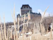 stock photo of chateau  - Chateau Frontenac in winter, Quebec City, Quebec, Canada