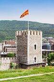 stock photo of macedonia  - Kale Fortress is a historic fortress located in the old town Skopje Macedonia - JPG