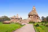 image of jain  - The Khajuraho Group of Monuments are a group of Hindu and Jain temples in Madhya Pradesh India - JPG