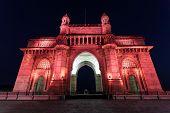 stock photo of british bombay  - The Gateway of India in Mumbai India - JPG