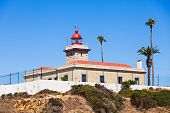 pic of lagos  - Lighthouse at Ponta da Piedade in Lagos Algarve region in Portugal - JPG