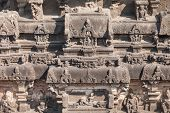 image of ellora  - Kailas Temple in Ellora Maharashtra state in India - JPG
