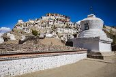 stock photo of tibetan  - Thiksey Monastery is a Tibetan Buddhist monastery in Ladakh India - JPG