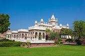 picture of mausoleum  - Jaswant Thada mausoleum in Jodhpur Rajasthan India - JPG