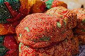 pic of turban  - Rajasthan turbans on the market Jaislamer India - JPG