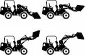 foto of skid  - Detailed illustration of skid steer loaders - JPG