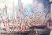 stock photo of malacca  - Incense in Cheng Hoon Teng temple - JPG