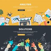 Flat design illustration concepts for business poster
