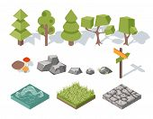 picture of ecosystem  - Flat elements of nature - JPG