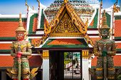 stock photo of guardian  - Demon Guardian in Wat Phra Kaew Grand Palace Bangkok - JPG