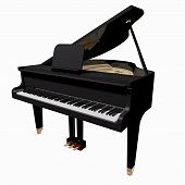 picture of grand piano  - Black Grand - JPG