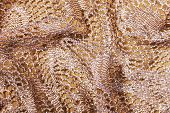 picture of rayon  - Folded and Elegant Golden Lacy Background - JPG