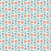 picture of marines  - Seamless pattern of anchor - JPG