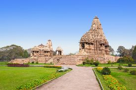 pic of kamasutra  - The Khajuraho Group of Monuments are a group of Hindu and Jain temples in Madhya Pradesh India - JPG