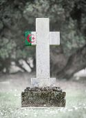 foto of algeria  - Old weathered gravestone in the cemetery  - JPG