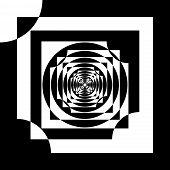 picture of descending  - Abstract descending Hypnotic frame black on transparent - JPG