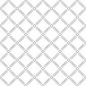 stock photo of diagonal lines  - Geometric fine abstract vector black and white background with diagonal dotted lines - JPG