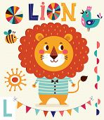 pic of lion  - Cartoon character fun lion - JPG
