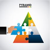 pic of human pyramid  - pyramid infographic design - JPG