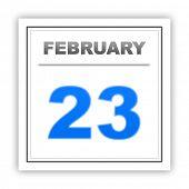 stock photo of february  - February 23 - JPG