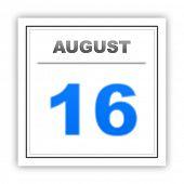 image of august calendar  - August 16 - JPG