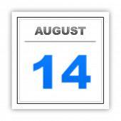 image of august calendar  - August 14 - JPG