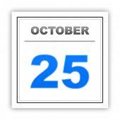 stock photo of october  - October 25 - JPG