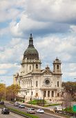 picture of mary  - Basilica of Saint Mary in Minneapolis MN on a cloudy day - JPG