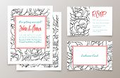 pic of hen party  - A set of office supplies for weddings and bachelorette party invitation - JPG