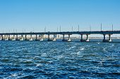 picture of dnepropetrovsk  - Bridge over the river in Dnepropetrovsk Dnieper - JPG