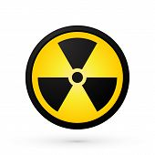 stock photo of nuke  - simple radioactivity symbol modern style new with shadow - JPG