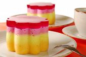 image of torta  - Peruvian colorful small cakes called  - JPG