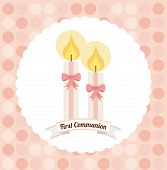 stock photo of communion  - first communion design - JPG