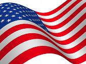 picture of waving american flag  - The American flag 3d - JPG