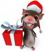foto of santa-claus  - Santa mouse - JPG