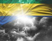 Постер, плакат: Gabon flag on a bad day