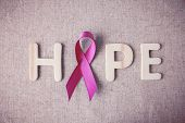 Pink Ribbons Toning Background, Breast Cancer Awareness And Abdominal Cancer Awareness poster