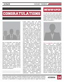 News Magazine Page Layout. Typography Newspaper Design With Columns, Paper Tabloid, Info Press Illus poster