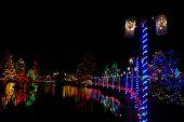 stock photo of christmas lights  - Christmas lights festival and celebration at vandusen gardens - JPG